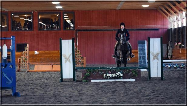 Angela Koulikon on Corinthian's Wild Card, aka Carder. Hudson Valley Horse Show at Corinthian's Equestrian Center, March 17-18, 2018.