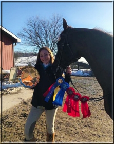 Jillian Cassidy and Corinthian's Wild Card, aka Carder Grand Champions. Hudson Valley Horse Show at Corinthian's Equestrian Center, March 17-18, 2018.